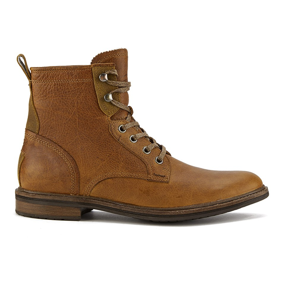 ugg s selwood lace up leather boots chestnut