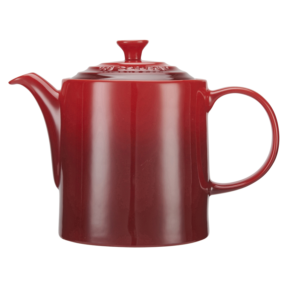 le creuset stoneware grand teapot 1 3l cerise iwoot. Black Bedroom Furniture Sets. Home Design Ideas