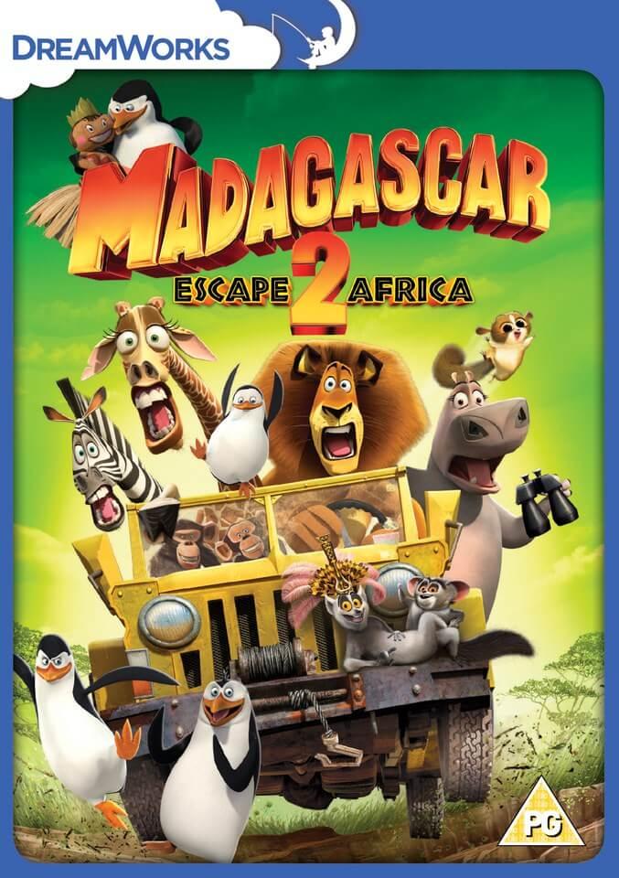 Madagascar 2 Escape To Africa 2015 Artwork Dvd Zavvi