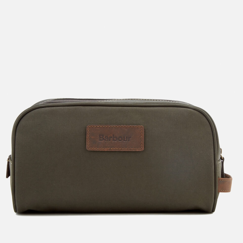 cae4535bba Barbour Men s Drywax Wash Bag - Olive - Free UK Delivery over £50