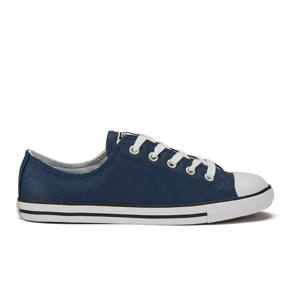 Converse Women's Chuck Taylor All Star Dainty Seasonal Leather Ox Trainers Nighttime NavyWhiteWhite