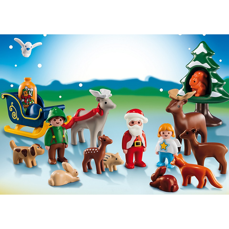 Playmobil Advent Calendar 1.2.3 Animals In The Forest