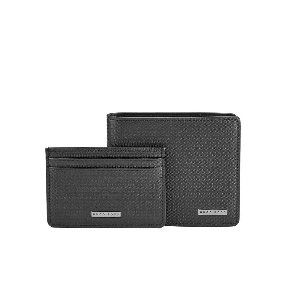 3e4940201b7 BOSS Hugo Boss Men s Gauco Leather Wallet Gift Set - Black Mens Accessories