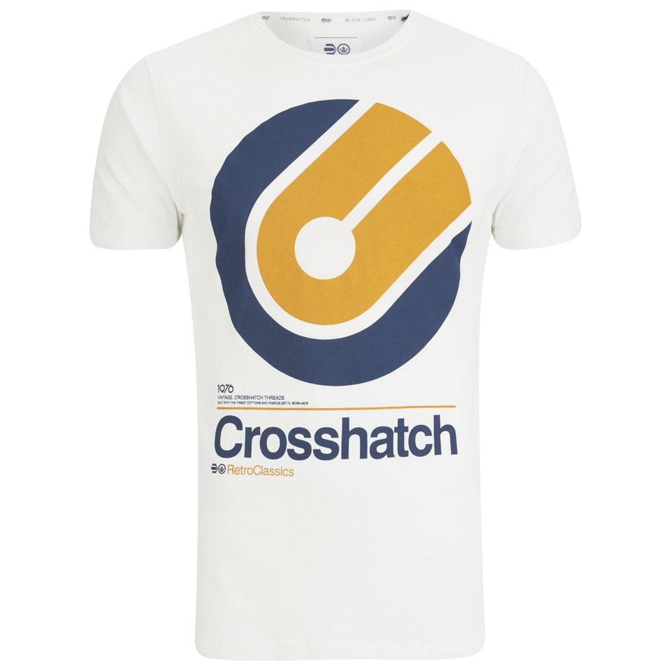Crosshatch Men 39 S Gazeout Print T Shirt Cloud Dancer