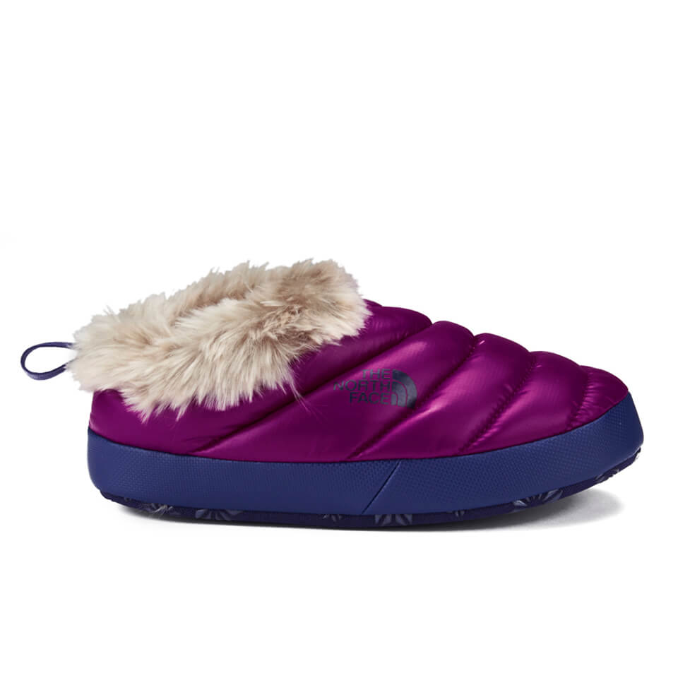The North Face Women S Tent Mule Faux Fur Slippers Shiny