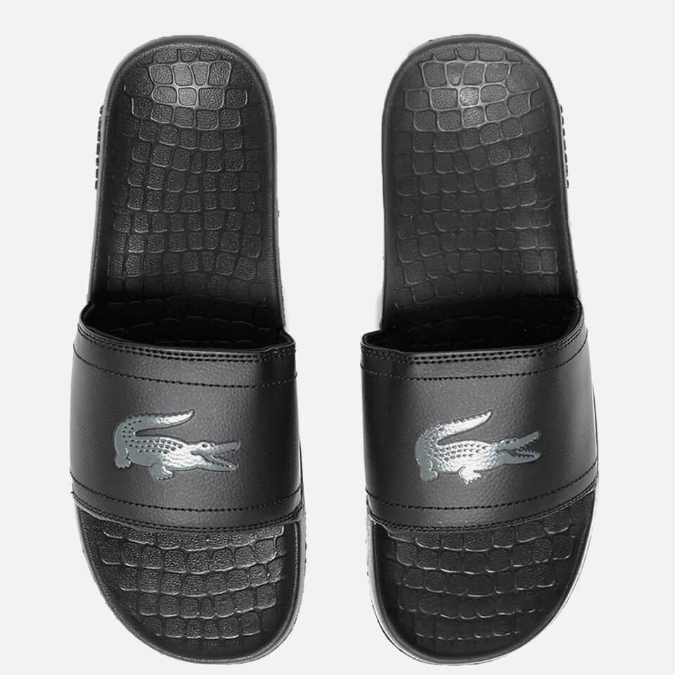 67e9a08f5543 Lacoste Men s Frasier Slide Sandals - Black Mens Footwear