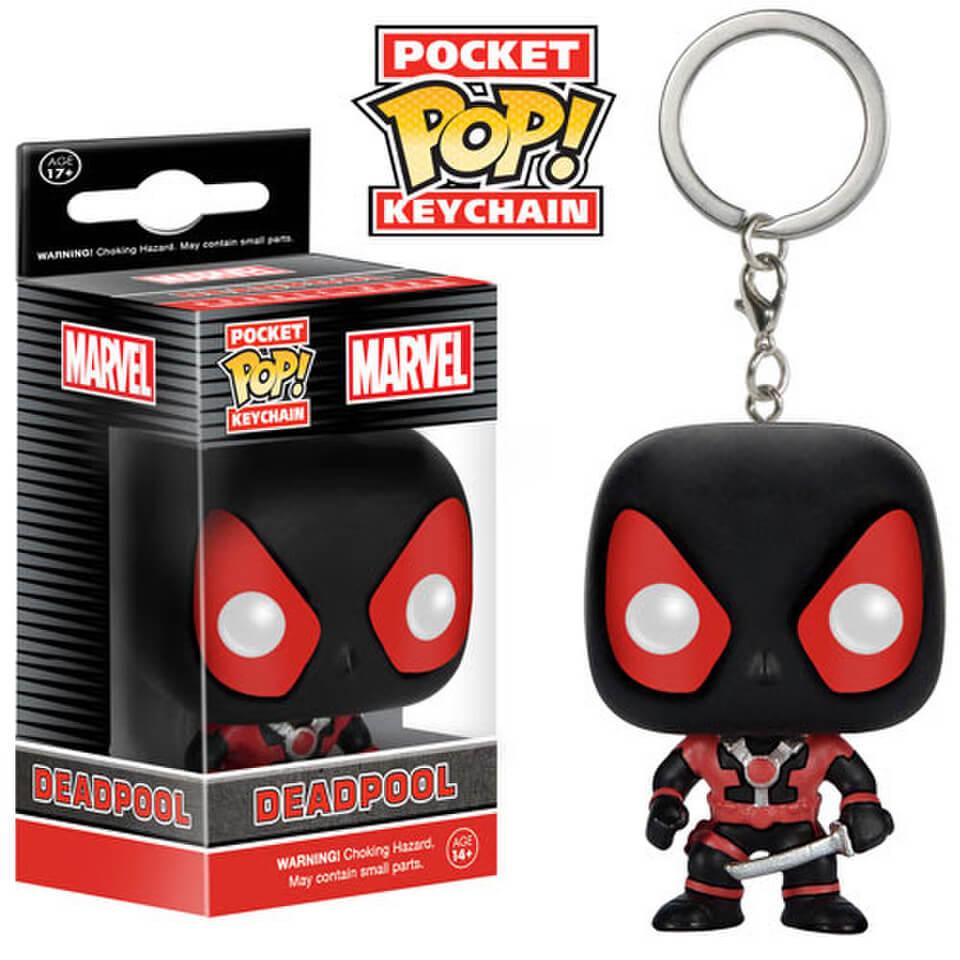 Marvel Deadpool Black Suit Pocket Pop Vinyl Key Chain My Geek Box Scooter Vip Keychain Description