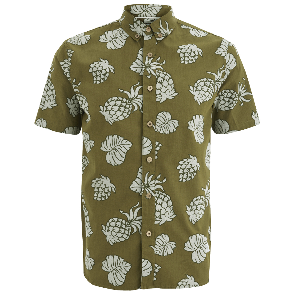Penfield men 39 s belden printed short sleeve shirt olive for Printed short sleeve shirts