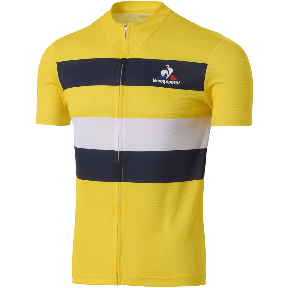 Le Coq Sportif Performance Classic N2 Short Sleeve Jersey - Yellow | ProBikeKit Australia