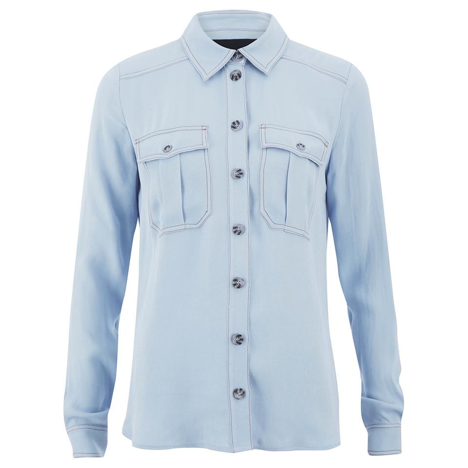 Designers remix women 39 s nova shirt light blue free uk for Ladies light denim shirt