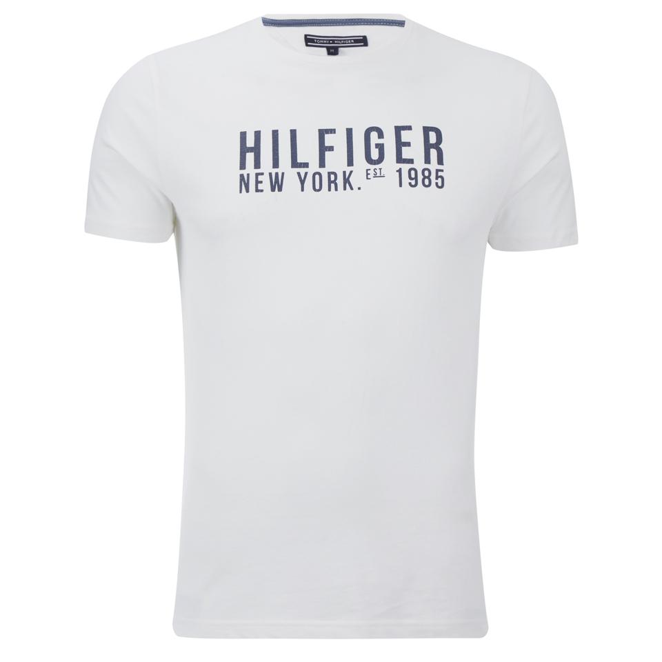 0f1b209c0ca3 Tommy Hilfiger Men s Lars T-Shirt - White Clothing