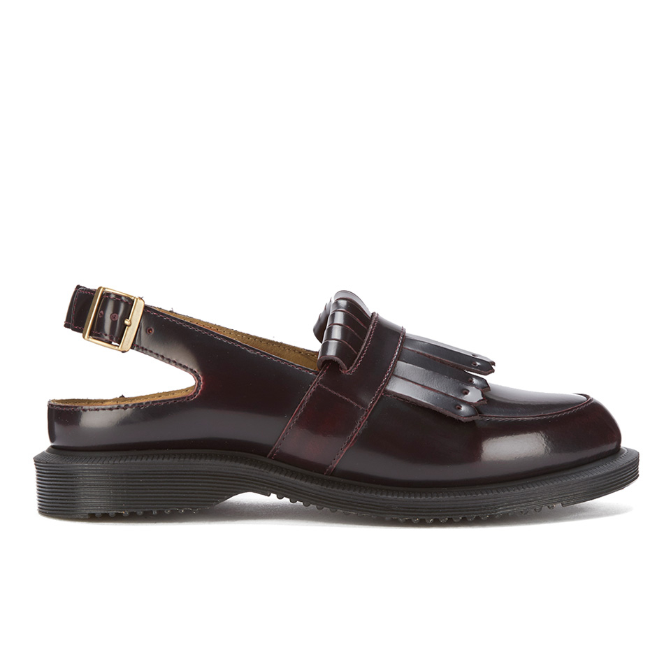 dr martens women 39 s kensington valentine arcadia leather sling back tassel loafers cherry red. Black Bedroom Furniture Sets. Home Design Ideas