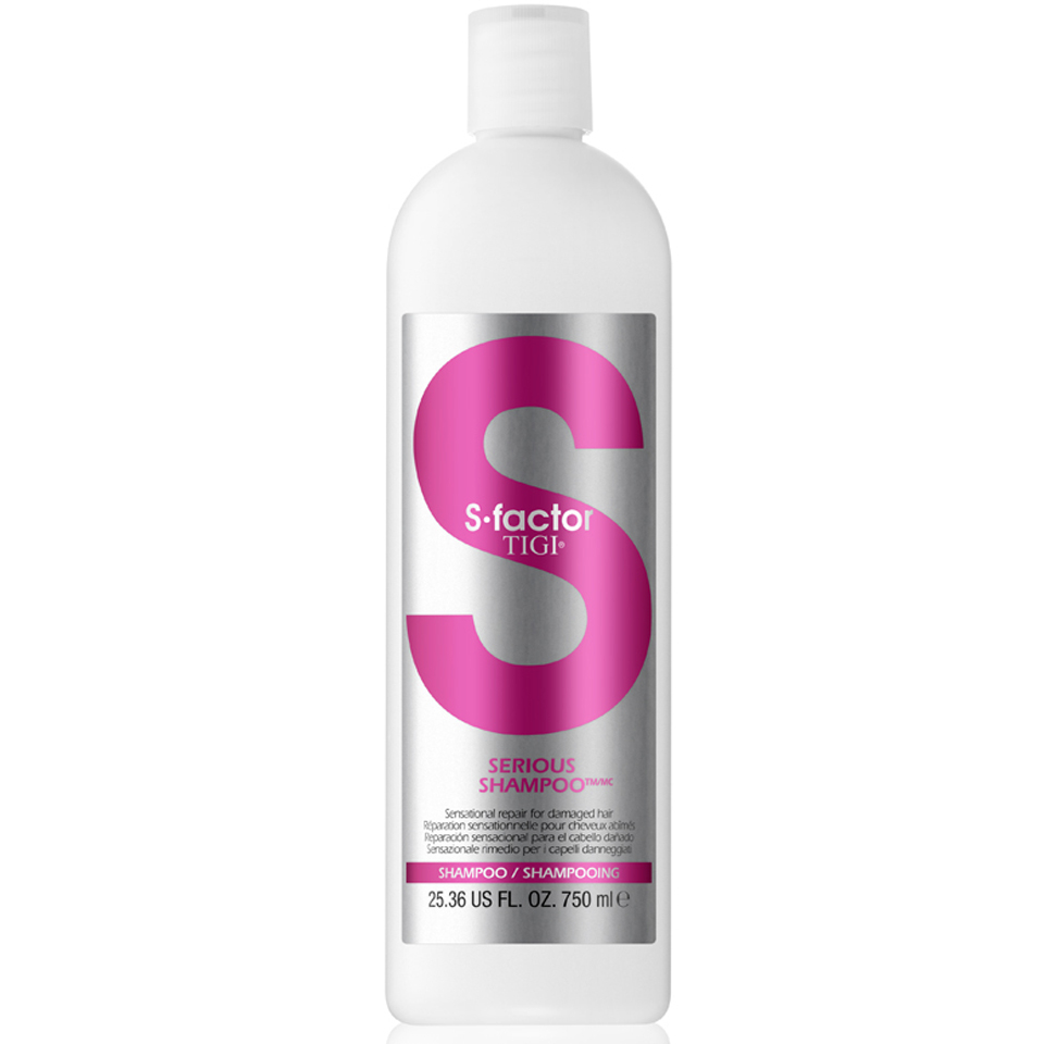 tigi s factor serious shampoo 750ml hq hair. Black Bedroom Furniture Sets. Home Design Ideas