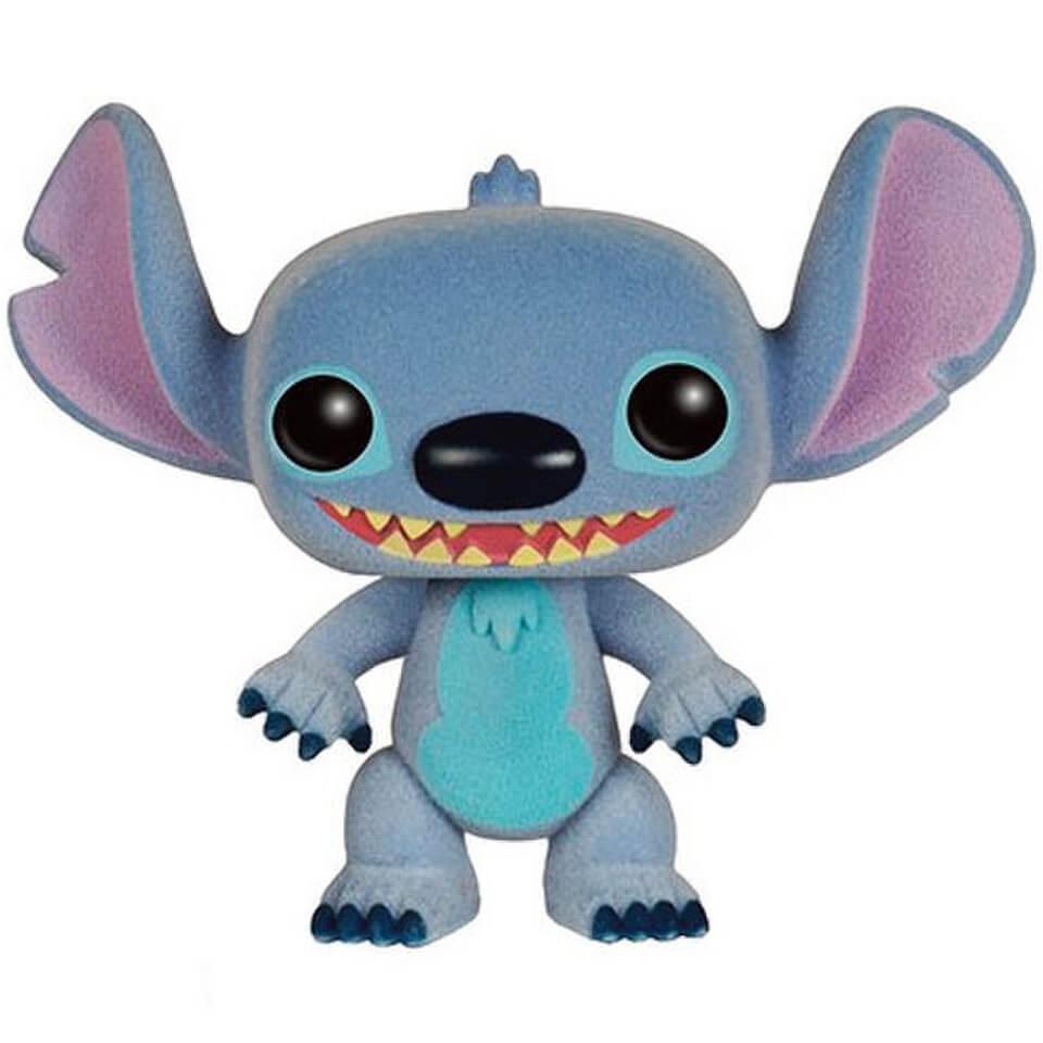 Disney Lilo And Stitch Stitch Flocked Pop Vinyl Figure
