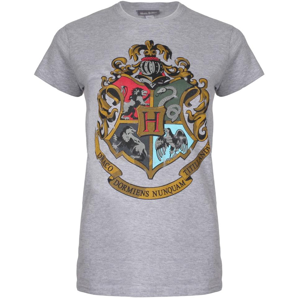 Harry Potter Women's Hogwarts Crest T-Shirt - Sport Grey ...