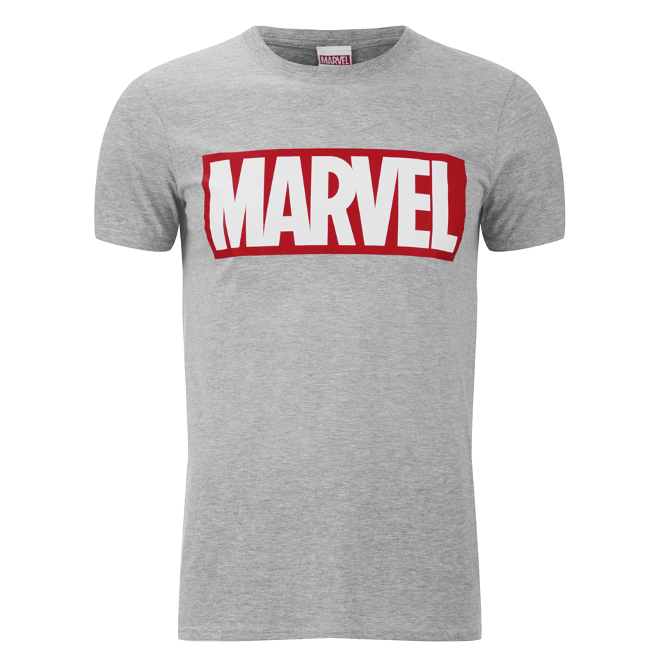 marvel comics men 39 s core logo t shirt sports grey merchandise zavvi. Black Bedroom Furniture Sets. Home Design Ideas