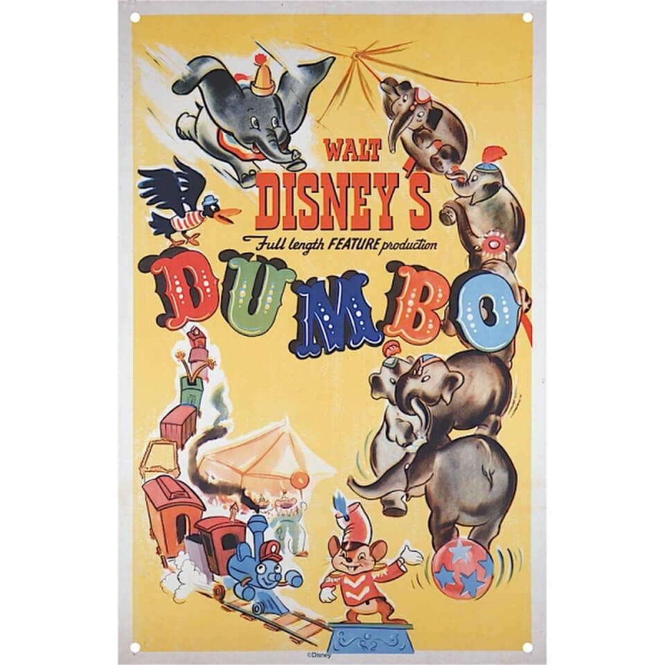 Disney Film Posters Dumbo Large Tin Sign Merchandise