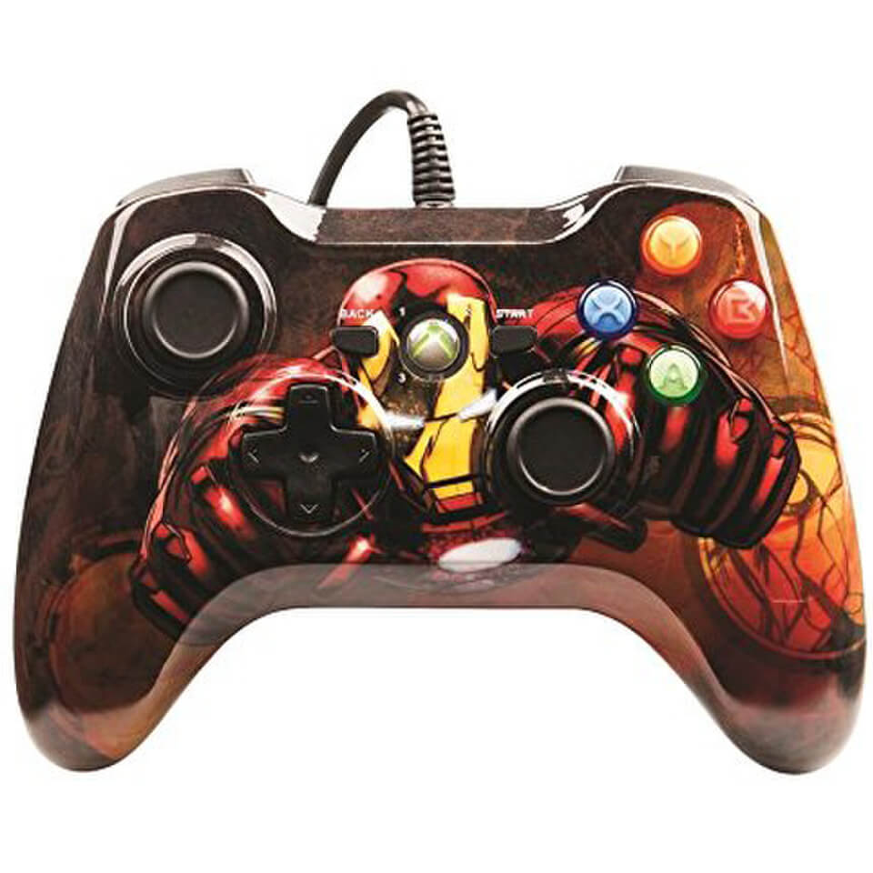 marvel avengers iron man xbox 360 controller games accessories. Black Bedroom Furniture Sets. Home Design Ideas