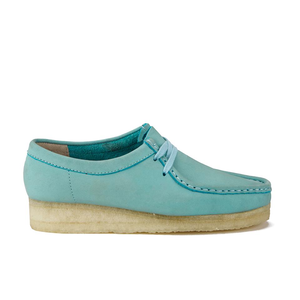 Clarks Originals Women's Wallabee Shoes - Light Blue Womens Footwear    TheHut.com