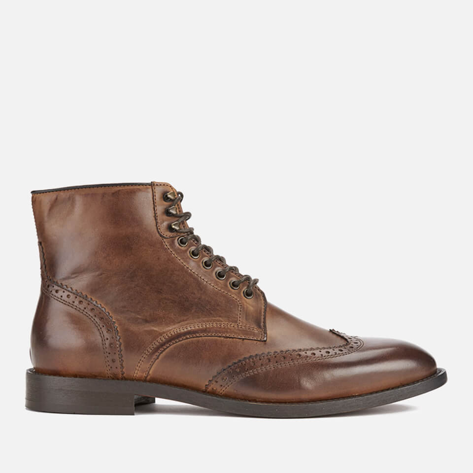 hudson london men 39 s greenham leather brogue lace up boots cognac herrenschuhe. Black Bedroom Furniture Sets. Home Design Ideas
