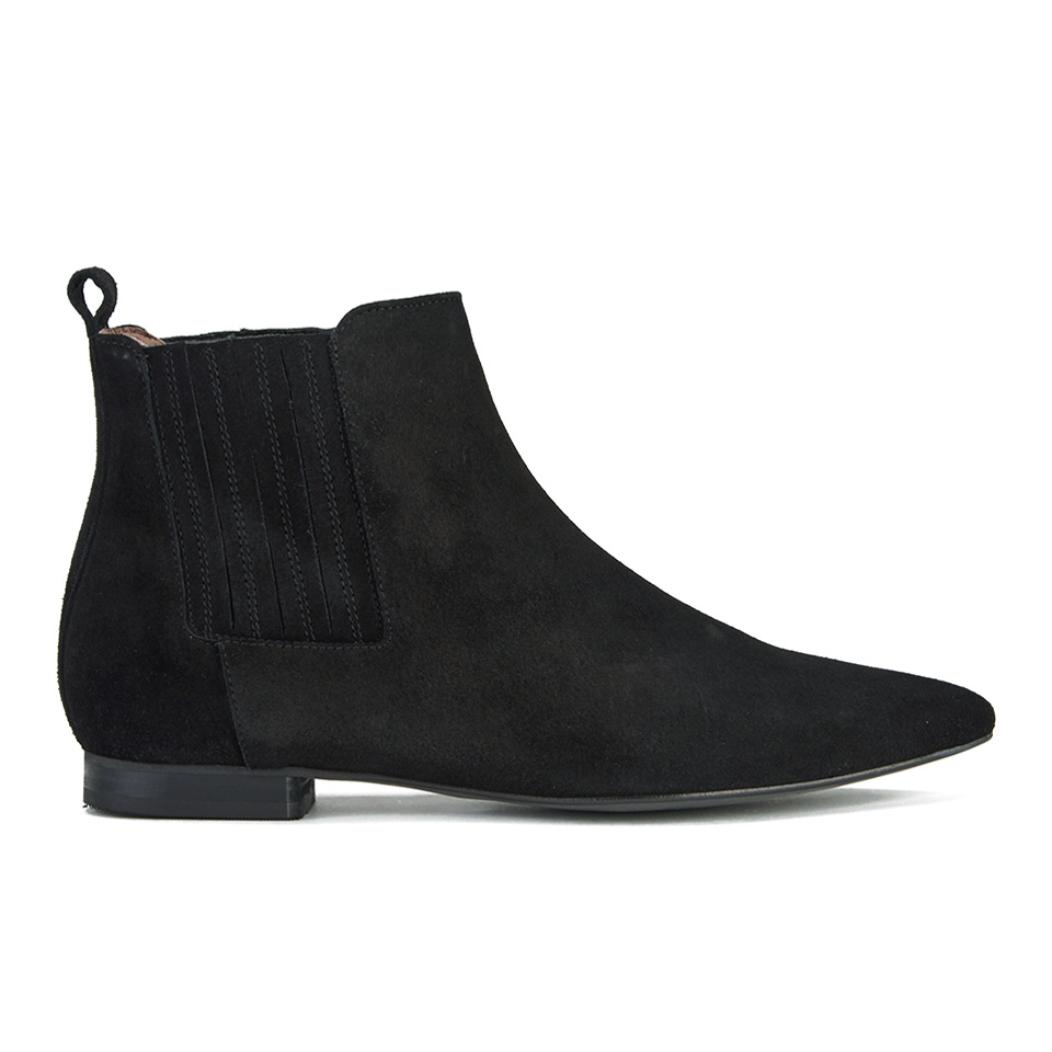 H Shoes by Hudson Women's Reine Pointed Suede Ankle Boots - Black ...