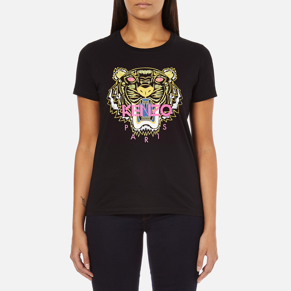 Kenzo Women 39 S Tiger Embroidered T Shirt Black Free Uk