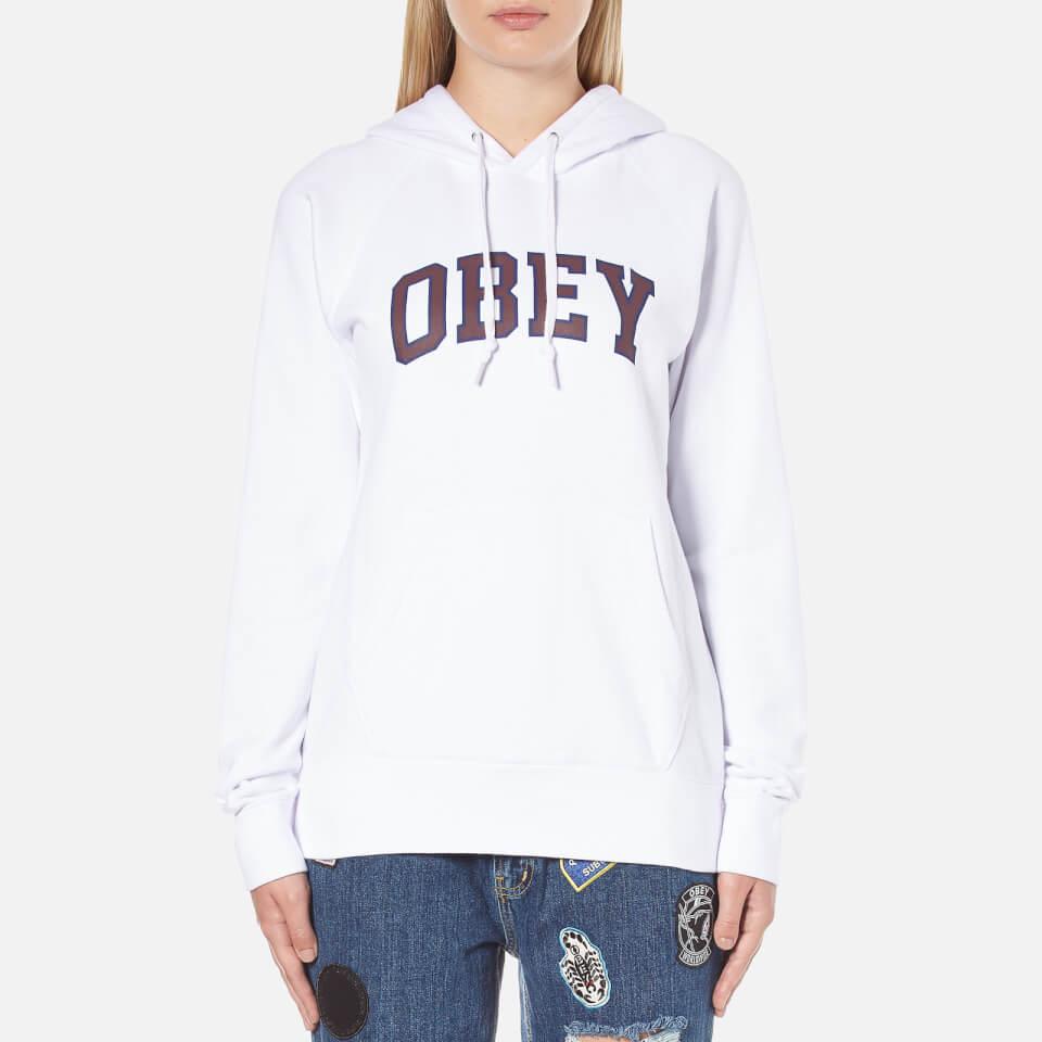 Obey Clothing Women S Learning Hooded Sweatshirt White
