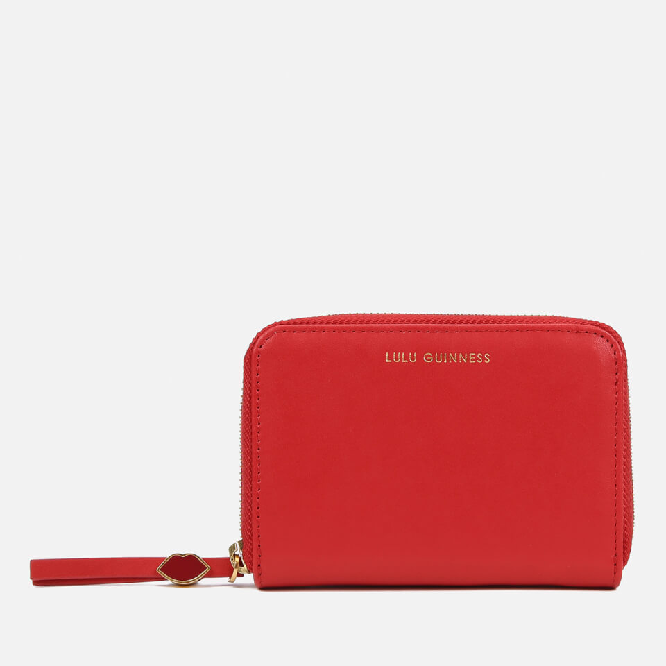 Lulu Guinness Women S Small Zip Around Wallet Red