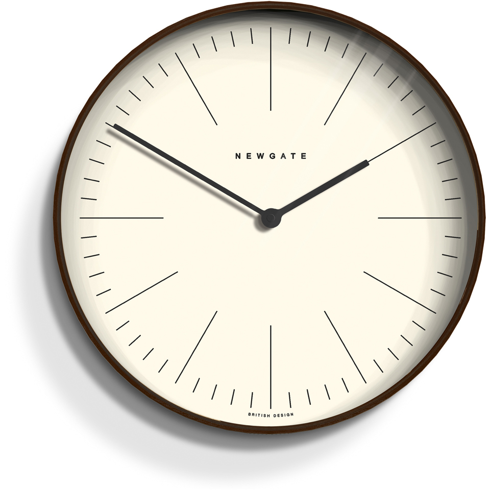 Newgate Mr Clarke Wall Clock Dark Homeware Thehut