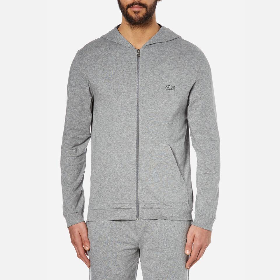 boss hugo boss men 39 s hooded zipped sweatshirt grey mens. Black Bedroom Furniture Sets. Home Design Ideas