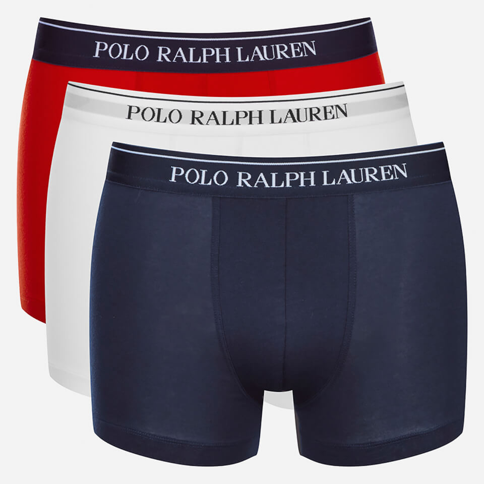 polo ralph lauren men 39 s 3 pack boxer shorts white red blue free uk delivery over 50. Black Bedroom Furniture Sets. Home Design Ideas