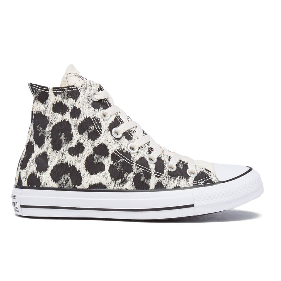 Converse Women s Chuck Taylor All Star Animal Print Hi-Top Trainers -  Parchment Black White - Free UK Delivery over £50 d4f6b0279