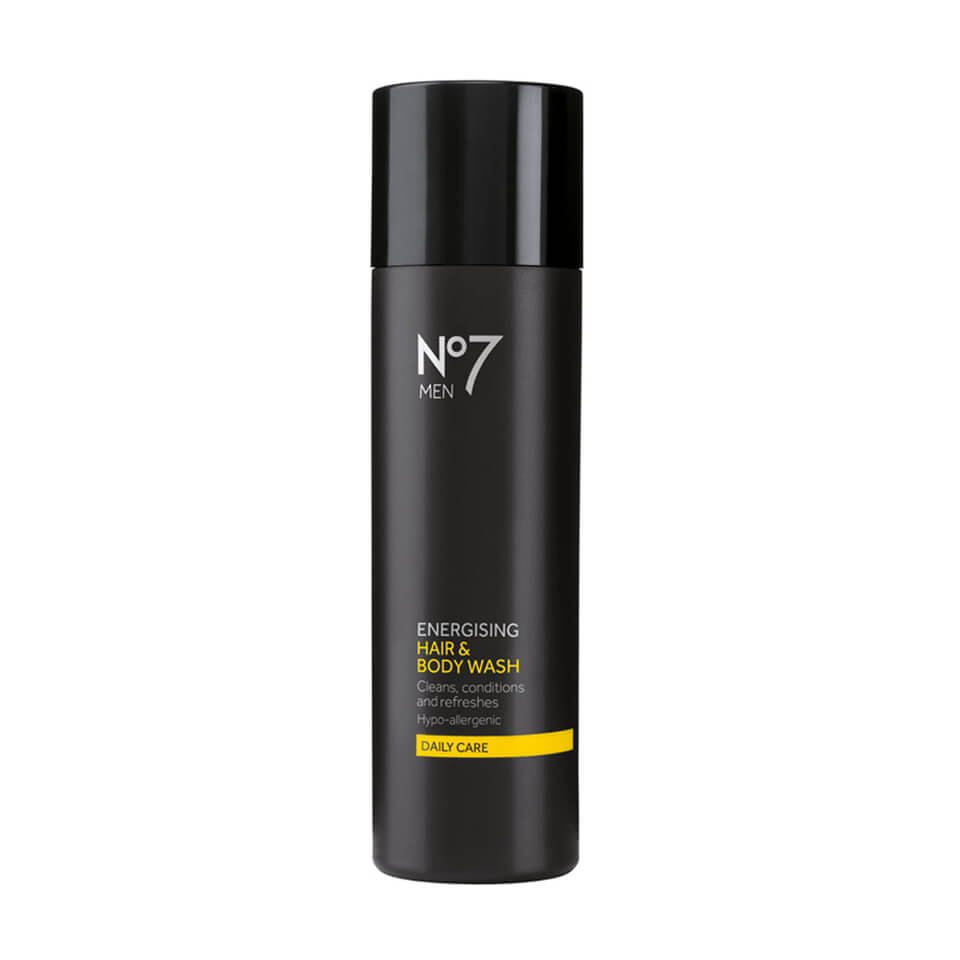 boots no 7 men energising hair and body wash