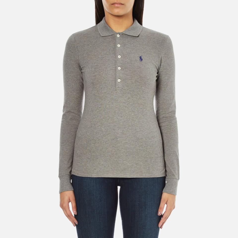 Polo ralph lauren women 39 s julie long sleeve polo shirt for Ladies soft flannel shirts