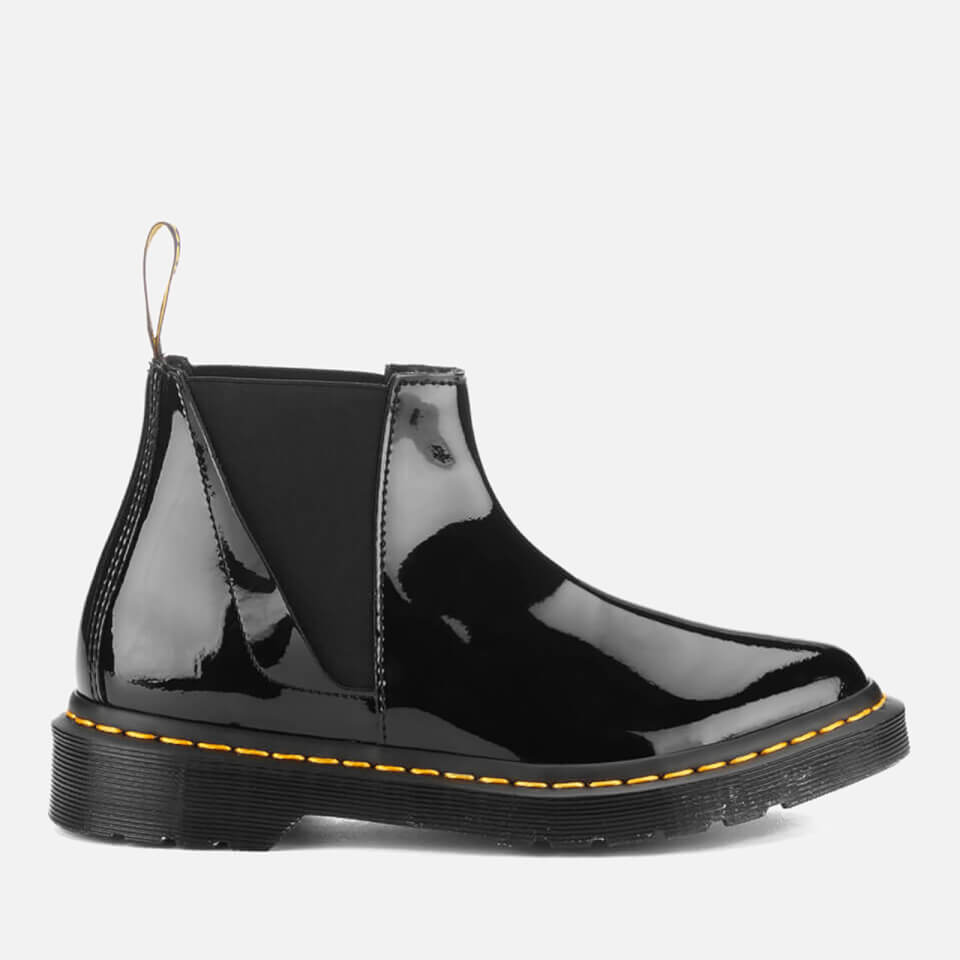 dr martens s pointed patent ler chelsea