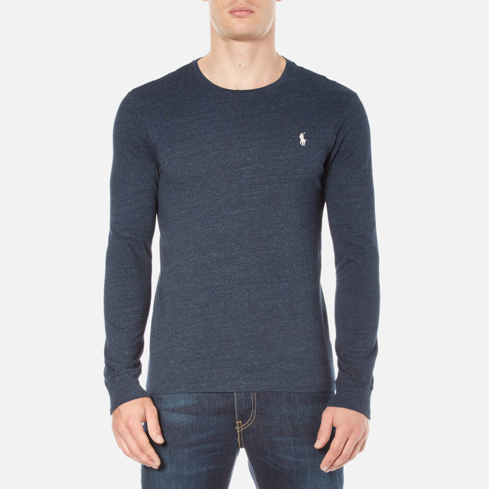 Polo ralph lauren men 39 s long sleeve crew neck custom fit t for Personalized long sleeve t shirts