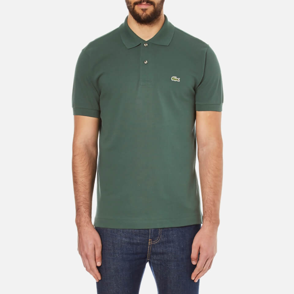 lacoste men 39 s basic pique short sleeve polo shirt kelp. Black Bedroom Furniture Sets. Home Design Ideas