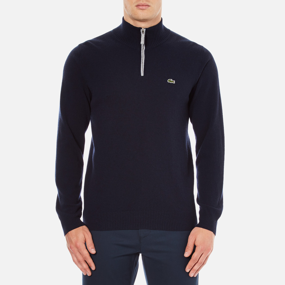 Lacoste Men's Half Zip Funnel Neck Sweatshirt