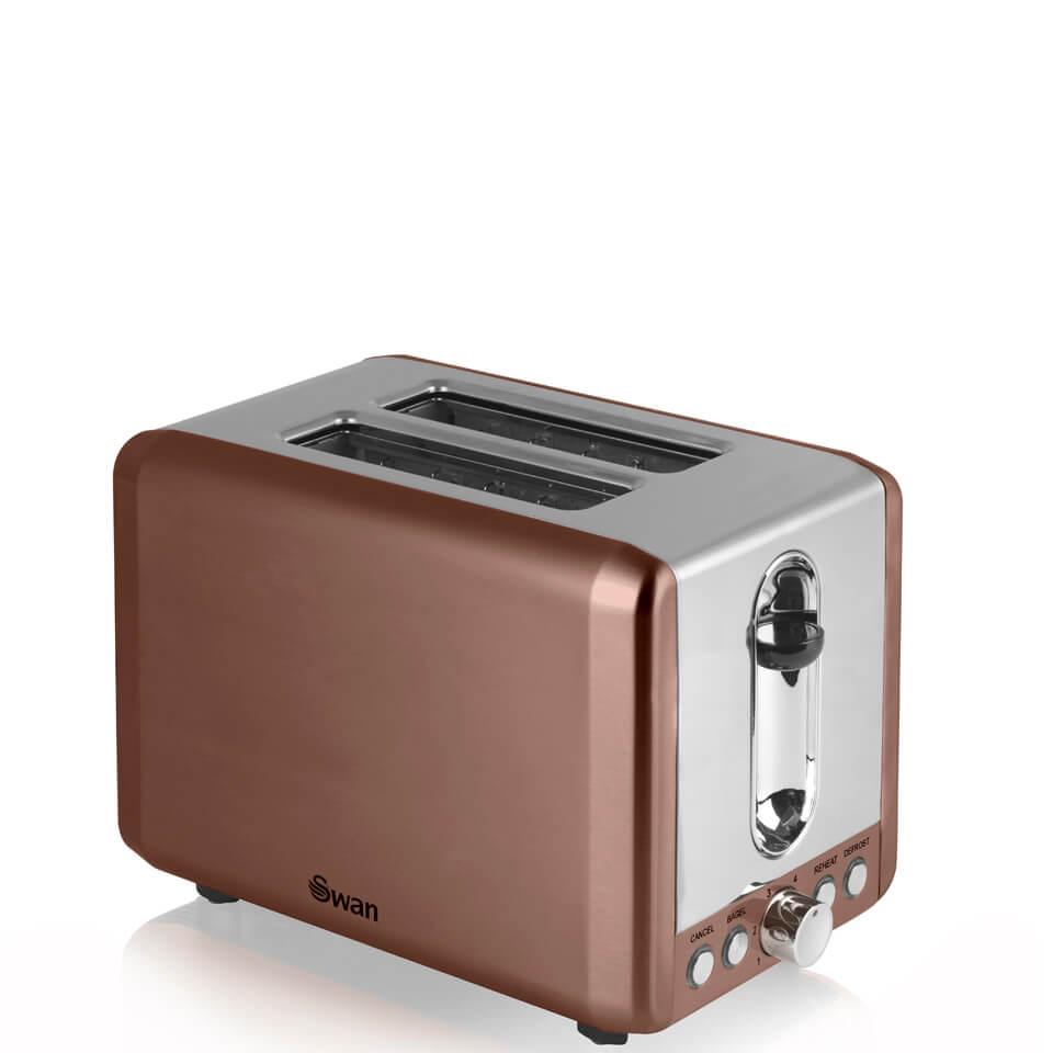 Swan ST14040COPN 2 Slice Toaster Copper Homeware