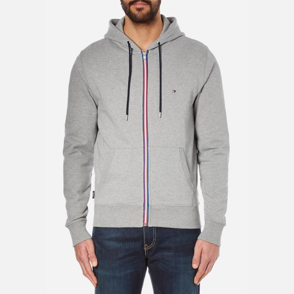 tommy hilfiger men 39 s zip through hoody cloud heather. Black Bedroom Furniture Sets. Home Design Ideas