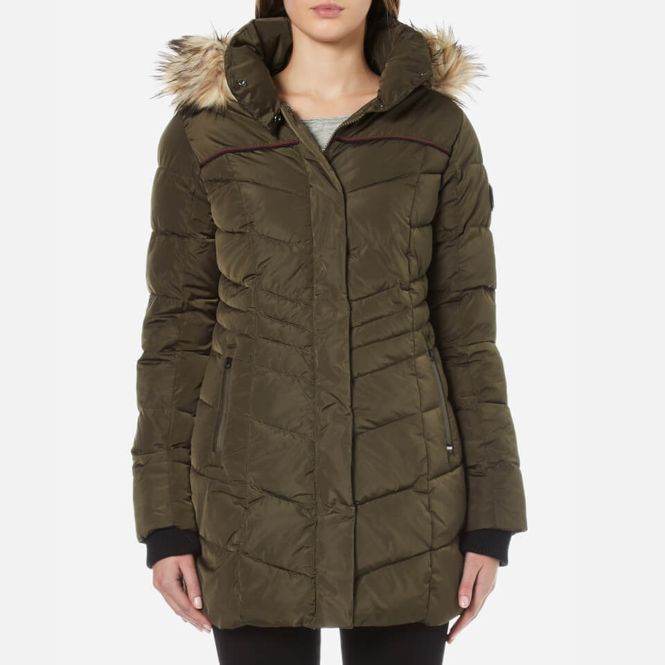 Superdry Women S Glacier Parka Khaki Womens Clothing
