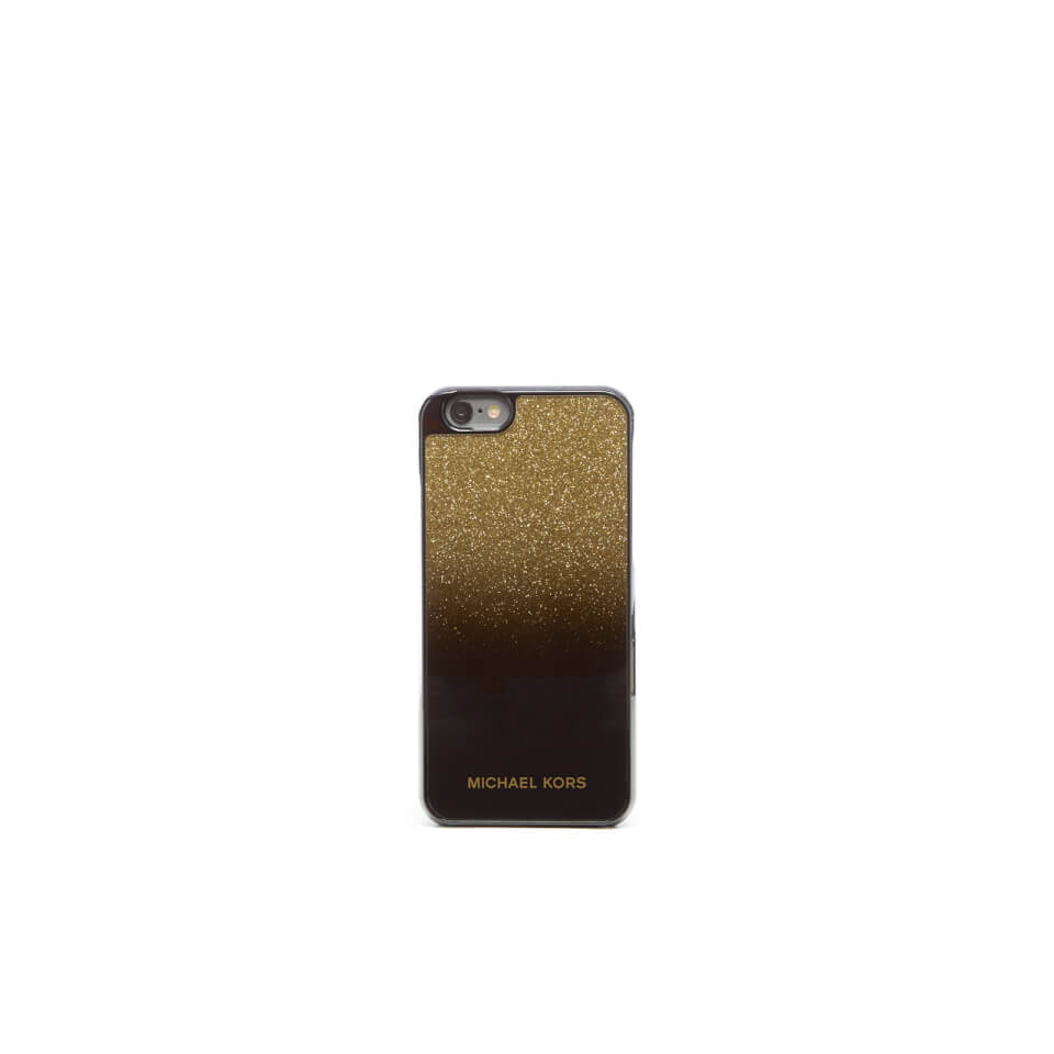 Michael michael kors women 39 s glitter iphone 6 cover gold for Housse iphone 6 michael kors