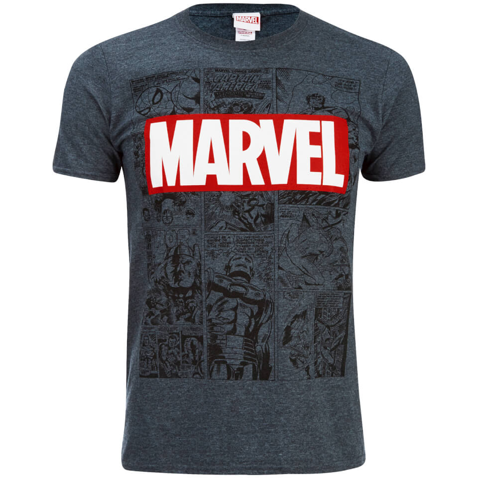 Marvel Men S Mono Comic T Shirt Dark Heather Merchandise