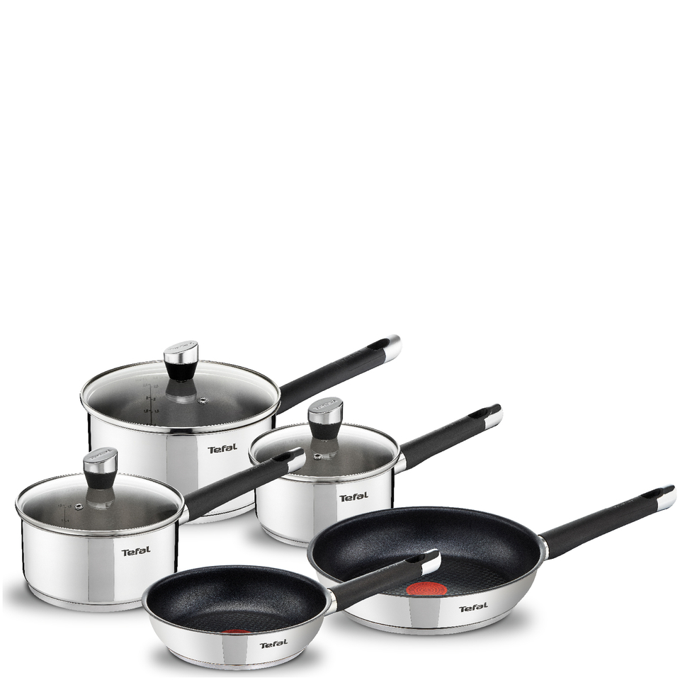 tefal e824s544 emotion stainless steel 5 piece set homeware