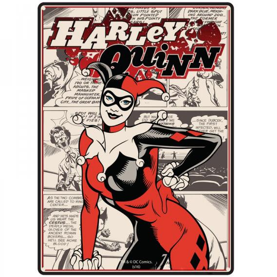 Dc Comics Harley Quinn Small Tin Sign 15cm X 21cm