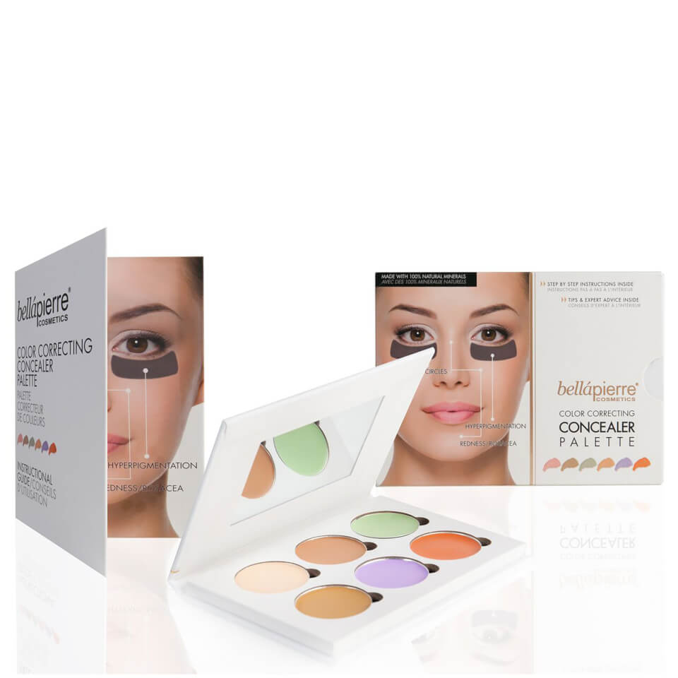 Makeup beauty and more jane cosmetics multi colored color correcting - Bell Pierre Cosmetics Colour Correcting Concealer Palette Reviews Free Shipping Lookfantastic