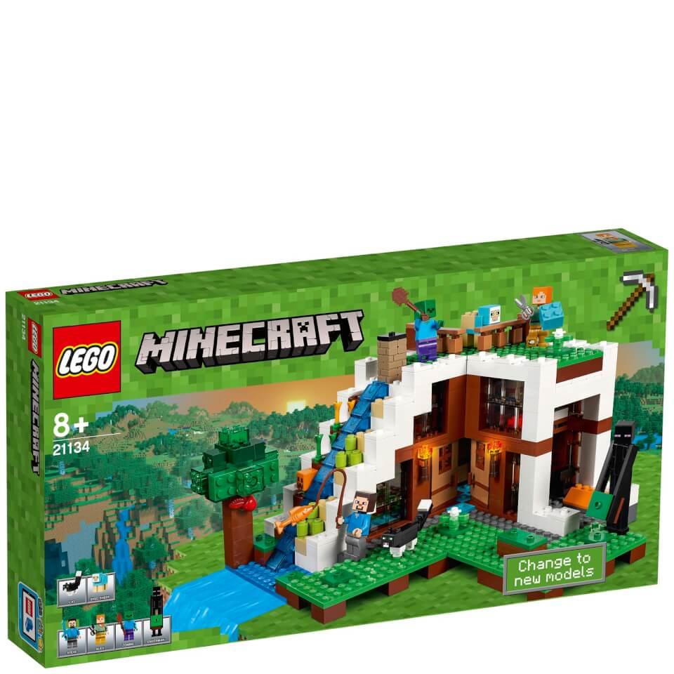 LEGO Minecraft: The Waterfall Base (21134) Toys | Zavvi