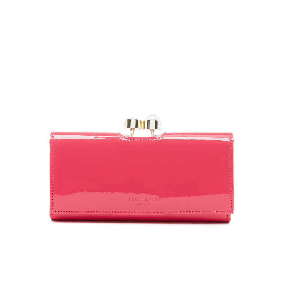 51cd723cb8b Ted Baker Women's Cecilie Pearl Bobble Patent Matinee Purse - Coral