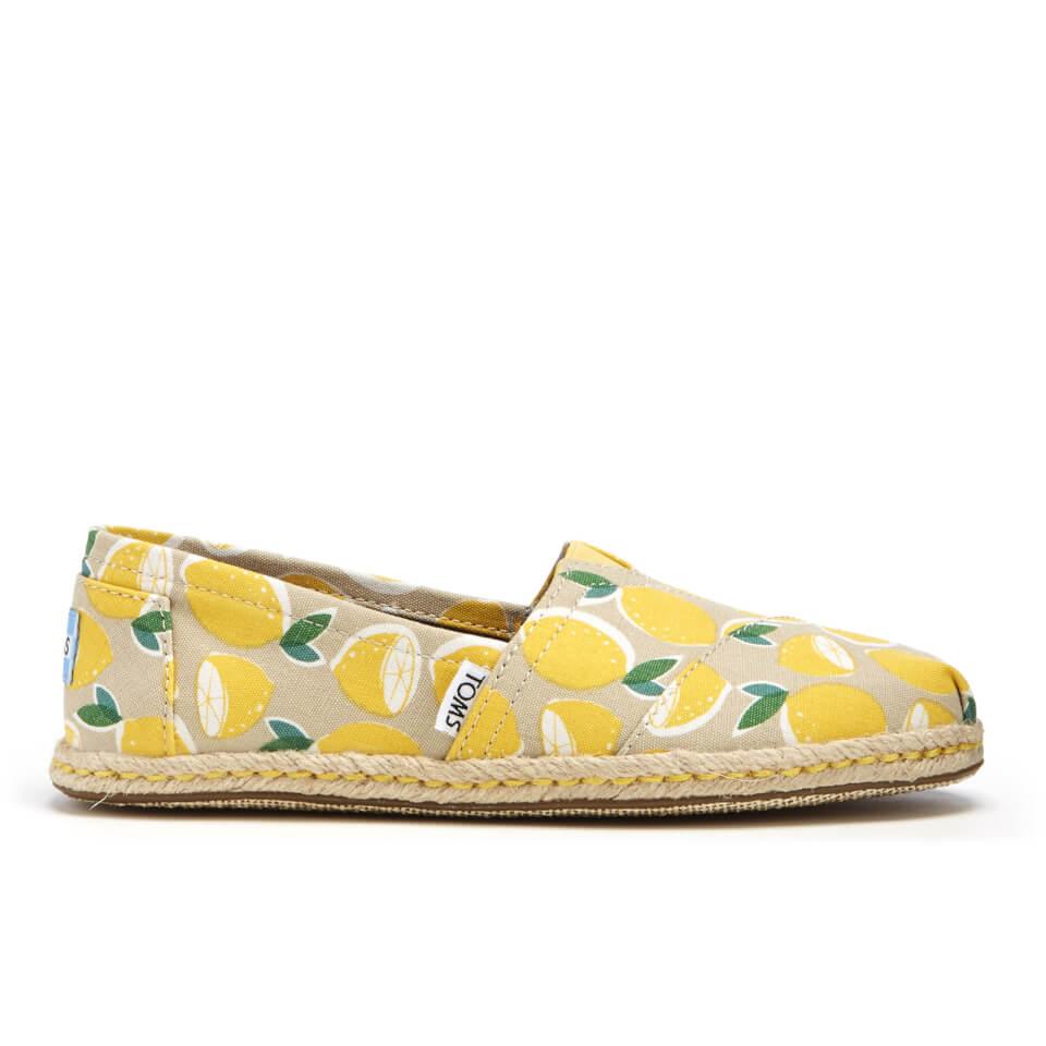 Toms Women S Seasonal Classic Lemon S Slip On Pumps