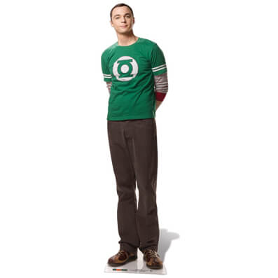 sheldon cooper haircut the big theory dr sheldon cooper size cut out 4713